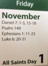 November 1