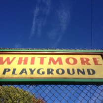The Playground is the former site of Whitmore School