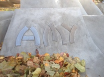 Remembering Amy Fretz, daughter of Tom and Becky Fretz. When Amy died at age seven, her family used memorial money to commission this sculpture. It was dedicated June 2, 1991